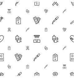 Medical icons pattern seamless white background vector