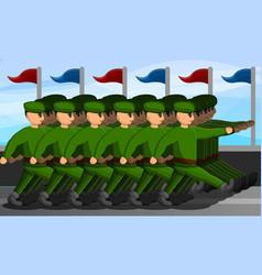 Military parade concept banner cartoon style vector
