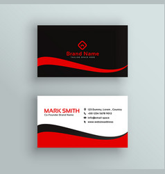 Modern red and black business card design vector