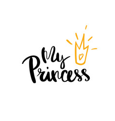 my princess calligraphy for typography vector image