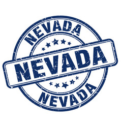Nevada blue grunge round vintage rubber stamp vector