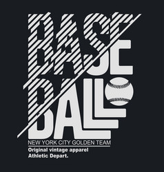 new york sport t-shirt typography baseball print vector image