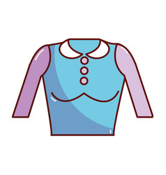 Nice blouse cloth style vector