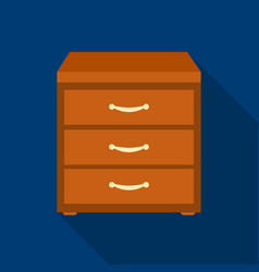office filing cabinet icon in flat style isolated vector image
