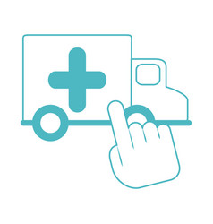 online doctor ambulance transport medical app vector image
