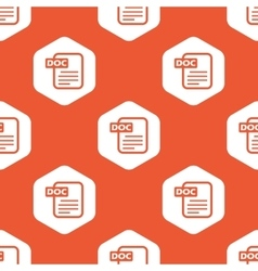 Orange hexagon DOC file pattern vector image vector image