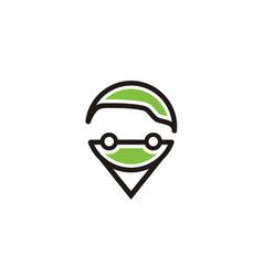 Pin map gps car location address logo vector