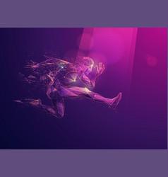 polyjump vector image