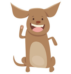 Puppy or dog cartoon character vector