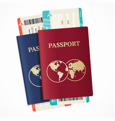 Realistic international passport set vector