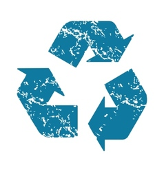 Recycle grunge icon vector image