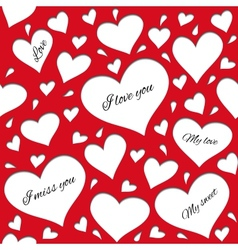 Red pattern for lovers vector