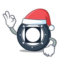 Santa byteball bytes coin mascot cartoon vector