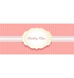 shabby chic congratulations card vector image