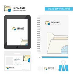 shared folder business logo tab app diary pvc vector image