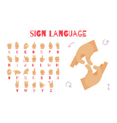 Sign language poster vector
