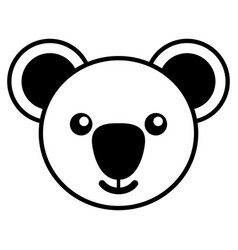 simple line art a cute koala vector image