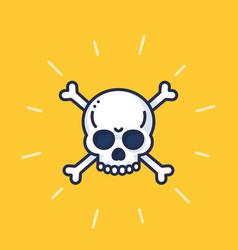 skull and bones art danger sign vector image