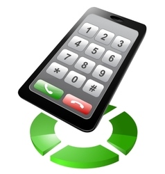 Smartphone dialer vector image