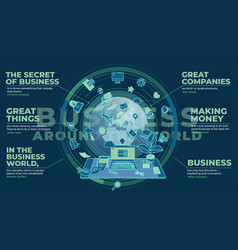 Stylish composition on topic business vector