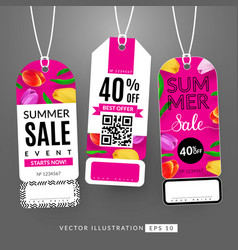Summer sale event vector