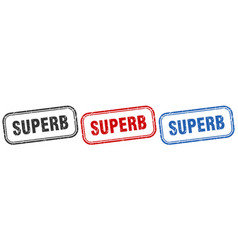 Superb square isolated sign set superb stamp vector