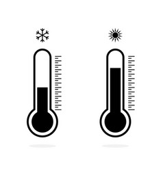 temperature logo thermometer icon measuring hot vector image