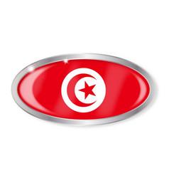 Tunisia flag oval button vector