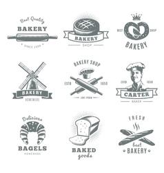 Vintage Bakery Label Set vector image