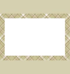 vintage frame scottish border pattern retro vector image