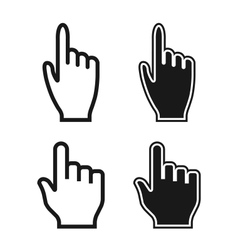 Woman and Man Hands Cursor Icons Mouse Pointer Set vector
