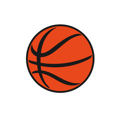 classic basketball vector image vector image