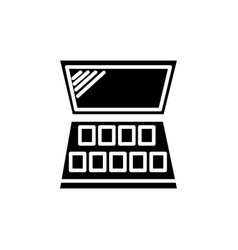 makeup icon black sign on vector image