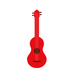 red guitar instrument music acoustic vector image