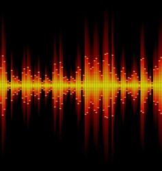 sound waveform vector image vector image
