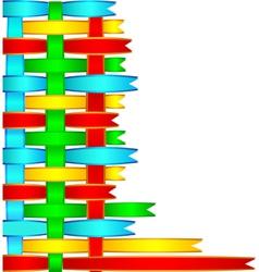 woven satin ribbon vector image vector image