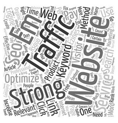 Increase website traffic with seo services text vector