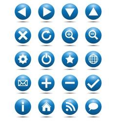 Blue Navigation Web Icons vector image vector image