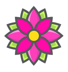flower astra filled outline icon easter holiday vector image vector image