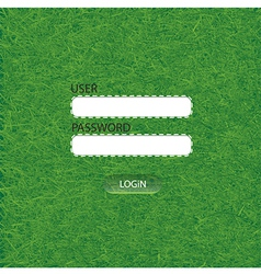 Grass login Web Elements vector image