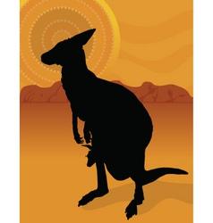 kangaroo outback vector image vector image