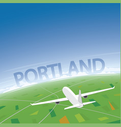 Portland flight destination vector