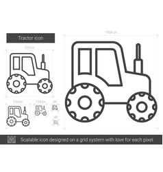 Tractor line icon vector