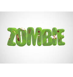 Zombie Text vector image vector image