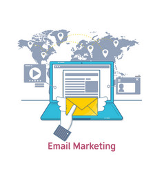 e-mail marketing mailing news letter advertising vector image