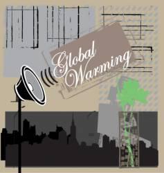global warning vector image