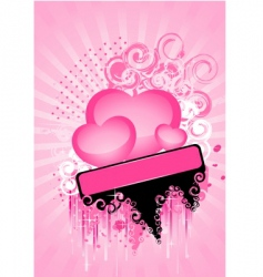 hearts poster vector image vector image