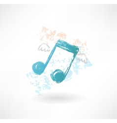 Music wings grunge icon vector image vector image