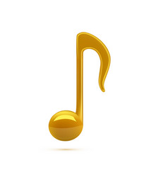 3d golden music notes isolated on white vector image