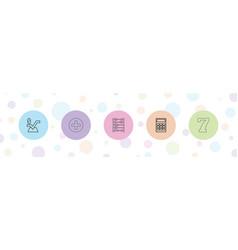 5 math icons vector